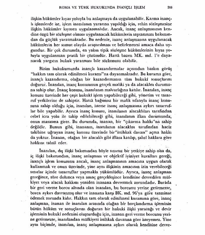Roma ve Türk Hukuku